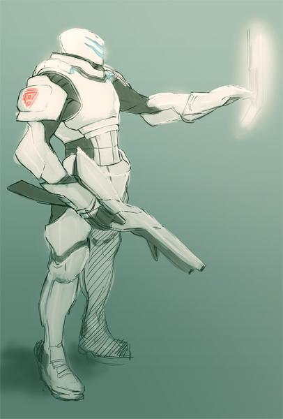 Dynamaar Armor concept 001 by Alseymoure