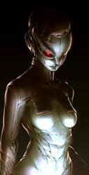 Female cyborg by Alseymoure