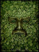 Green Man - Oak King by DarkLiminality
