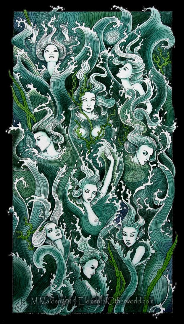 Wave Maidens by DarkLiminality