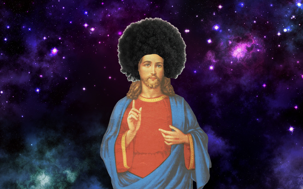 Afro Space Jesus by Ezekeil42