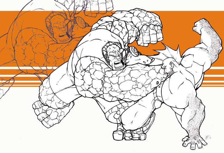 thing v. savage dragon by SuperUndiesMan