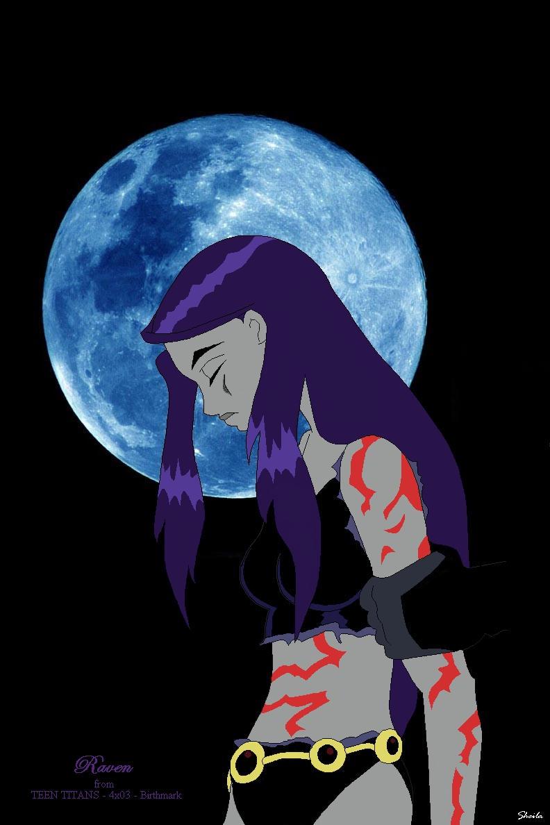 Teen Titans-Raven - birthmark by Sheilagold