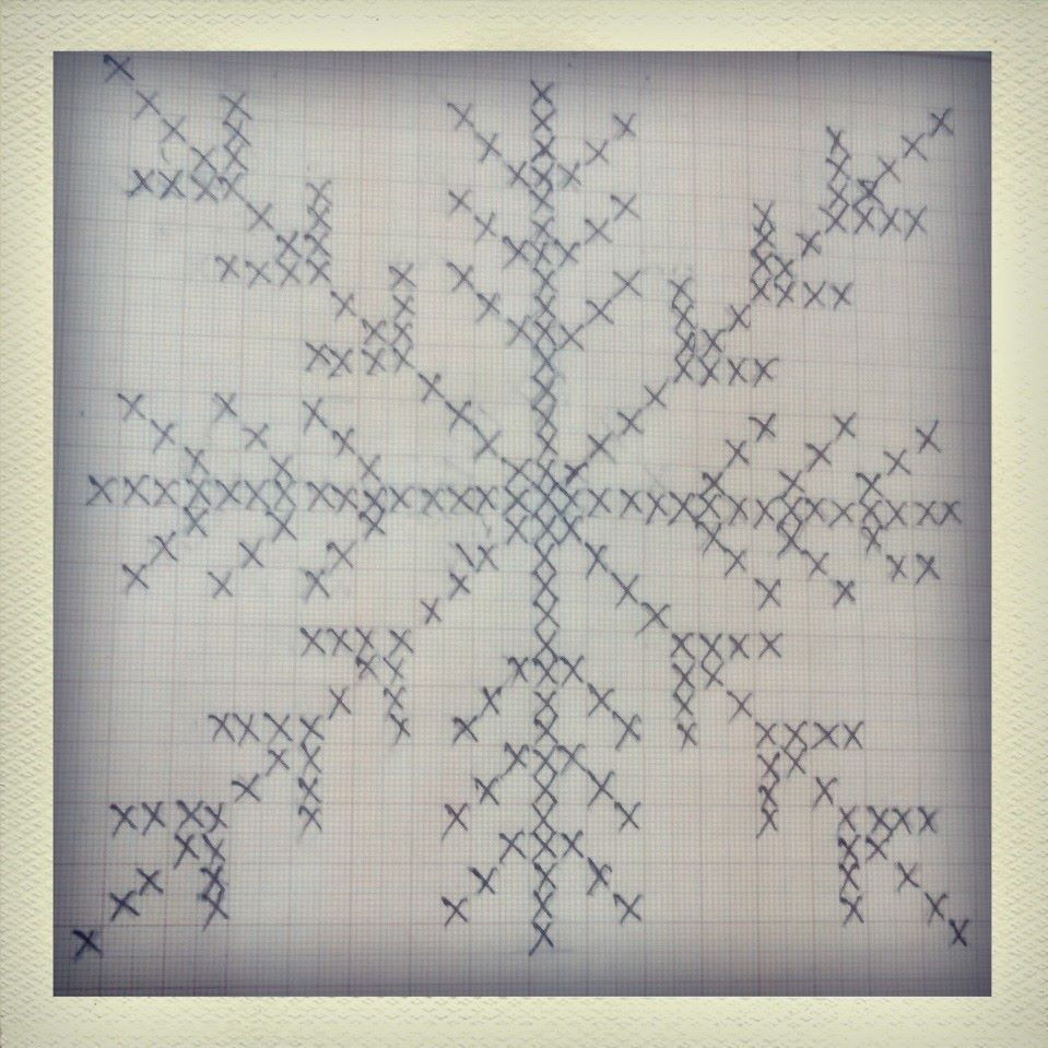 Snowflake crossstitch pattern on graph paper by comicalequation – Cross Stitch Graph Paper