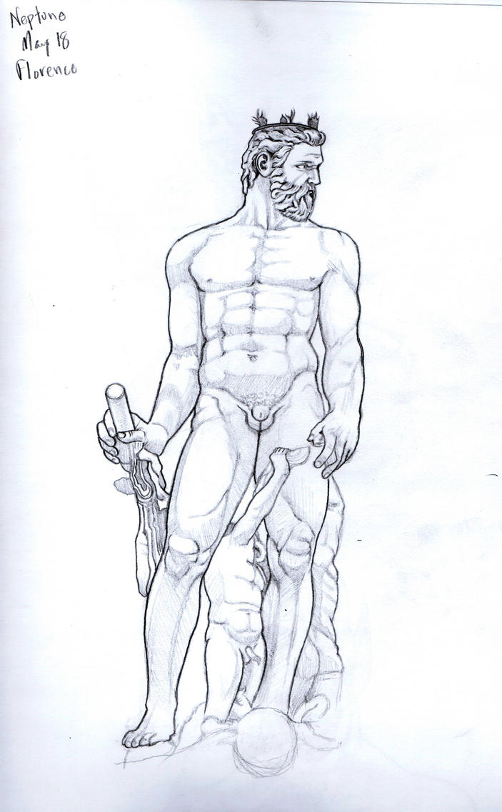 Neptune Statue by marc-mcfathead on deviantART