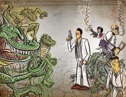 Yakuza VS Lizards cover page