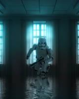 Storm Trooper stuck in Flood