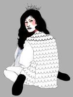 Black Haired Girl by degraala