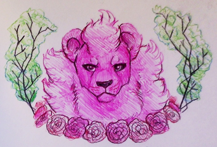 lion from steven universe!!! sketchbook doodle i did in school.