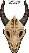 (f2u) draggo skull by StarstruckDoodles