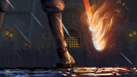 One Piece Fan Art - Flames of the Revolution
