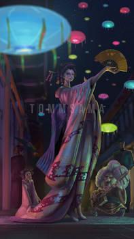 One Piece Colorization - The Geisha, Robin !