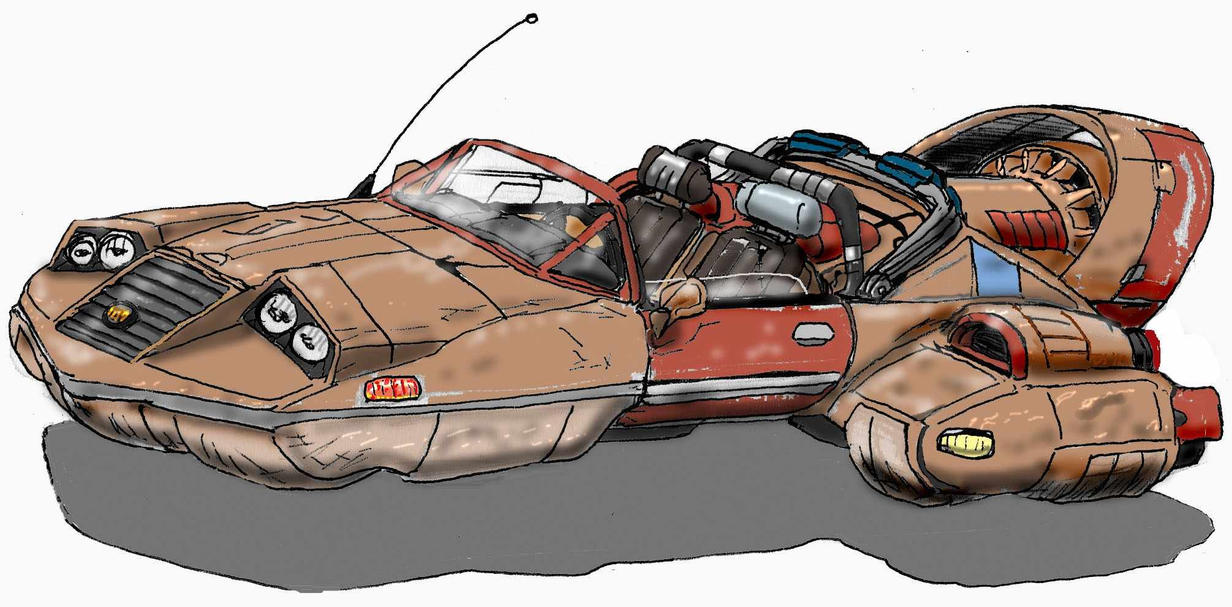 sci fi hovercar by taalismn