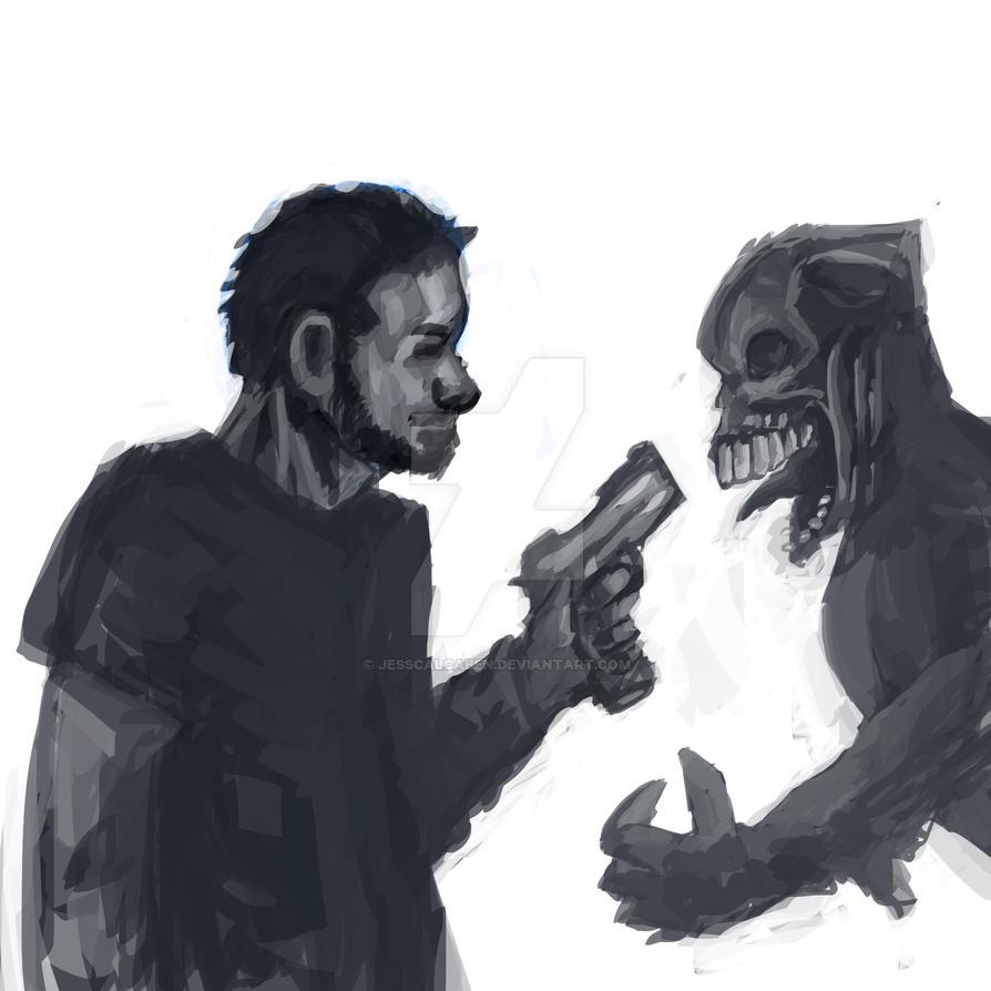 Zombie bullet lover by JessCalcaben