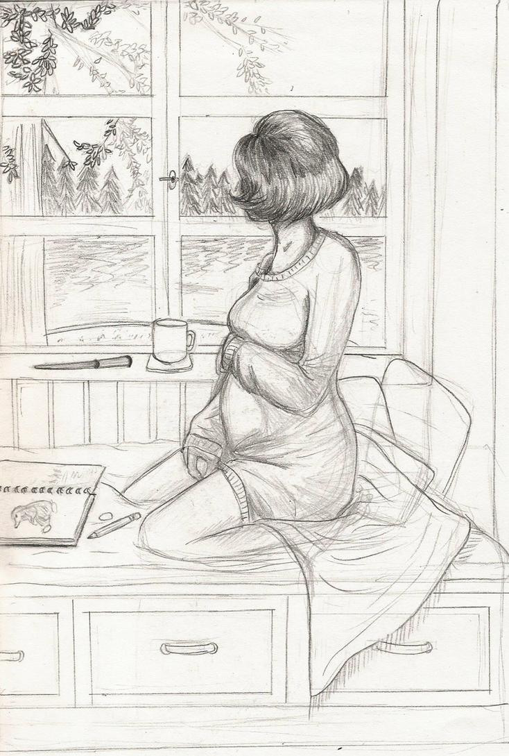 Pregnant Tina Sketch by Grimoire-Des-Reves