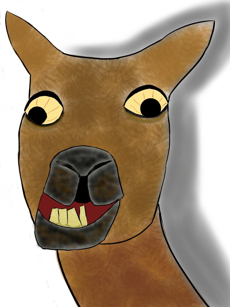Happy Llama Sad Mentally Disturbed By TurtlePCY