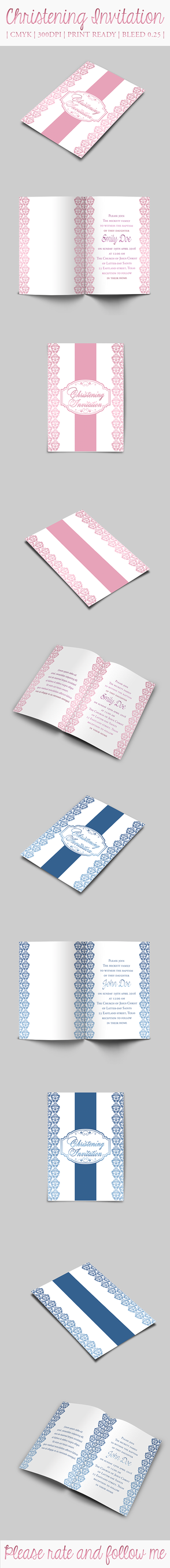 Christening Invitation by Anuya