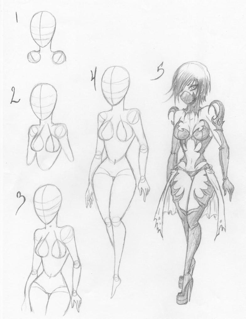 How I draw Female bodies by KT-Zombie on DeviantArt