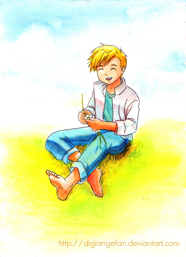 FMA - Alphonse :: Enjoying summer by DigiAngeFan