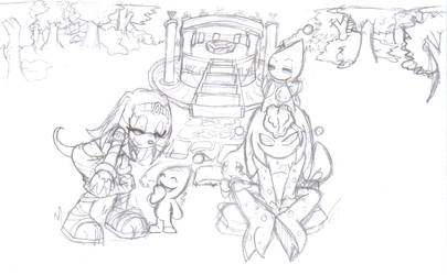 Tikal and Chaos Doodle by Achird