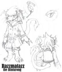 Razzmatazz the Binturong by Achird