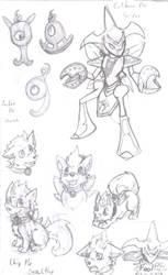 Sonic + Pokemon Crossover by Achird