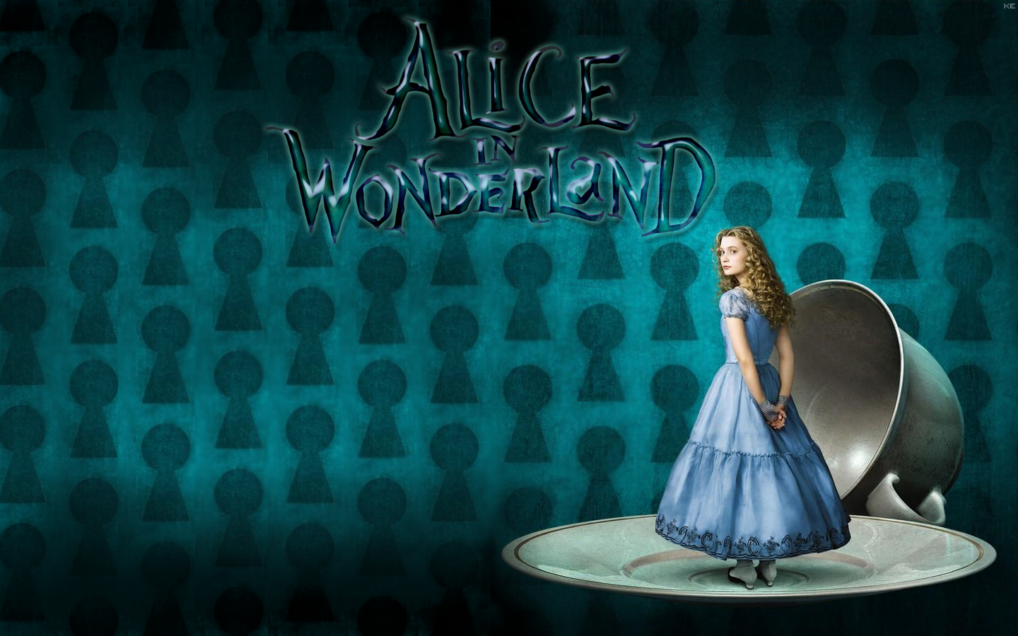 alice in wonderland wallpaper1 by cute cuddly cupcake on