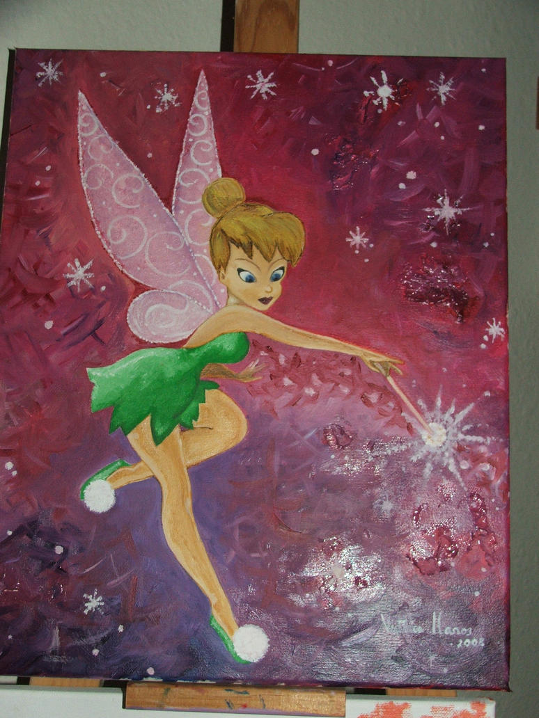 Tinkerbell oil painting by juanpablogc on DeviantArt