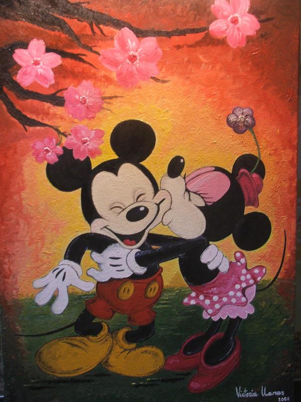 Minnie kisses Mickey by juanpablogc on DeviantArt