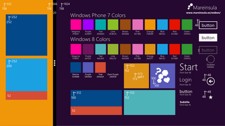 Windows 8 preview template
