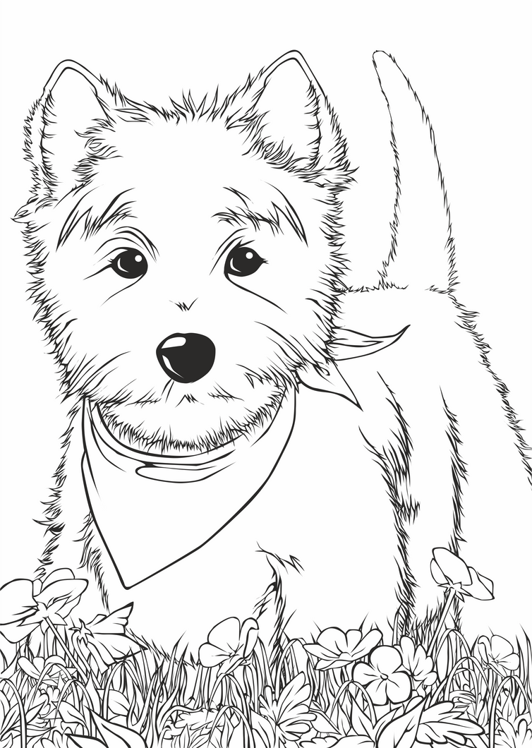 Dog Coloring Pages In Dog Houses