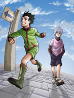 Gon and Killua by ToPpeRa-TPR