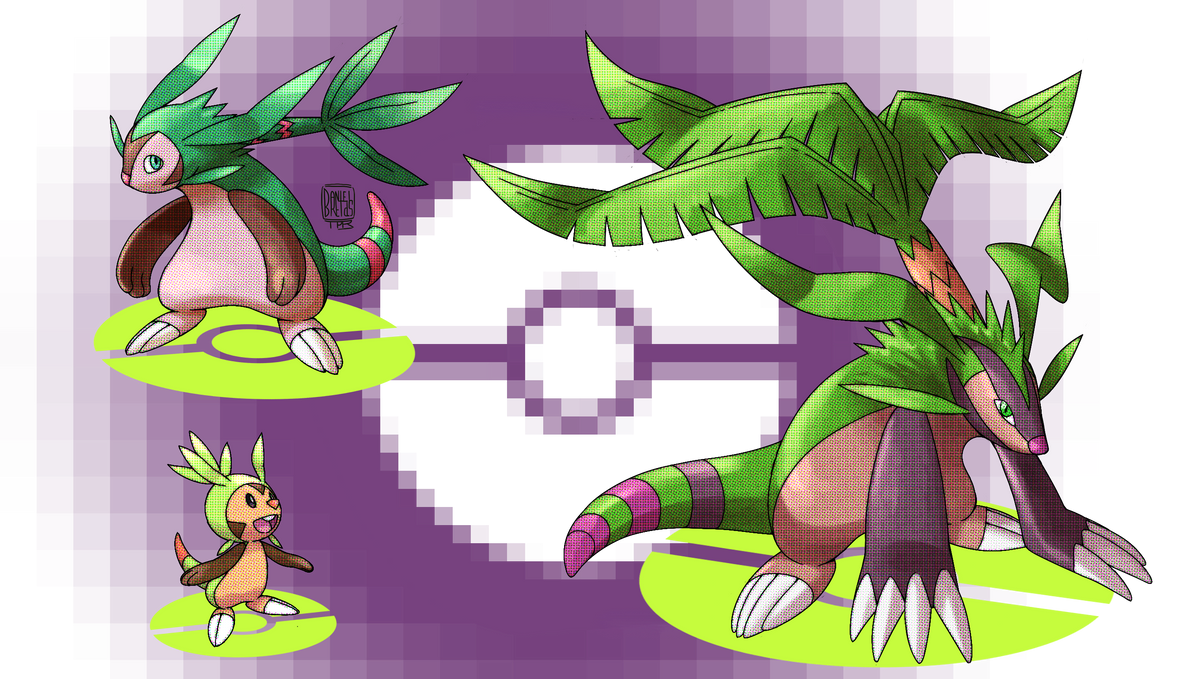 Imagenes , loles - Página 20 Chespin_evolutions_by_toppera_tpr-d5qya5n
