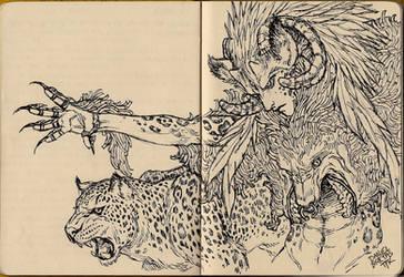 Sketchbook - Weird Goat-Wolf-Leopard Dude by ToPpeRa-TPR