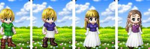 Link TG Zelda by pikaman6