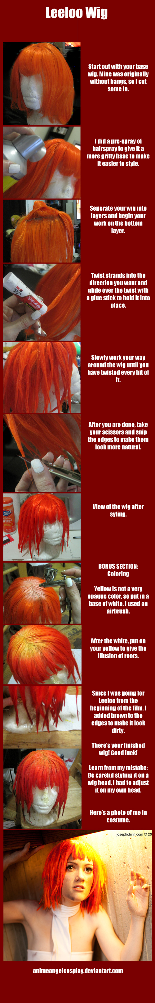 Tutorial-Leeloo Wig by RuffleButtCosplay