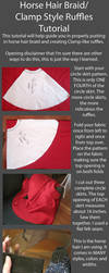 Tutorial-Putting in Horse Hair Braid/CLAMP Ruffles by RuffleButtCosplay