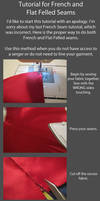 Tutorial-CORRECT French and Flat Felled Seams