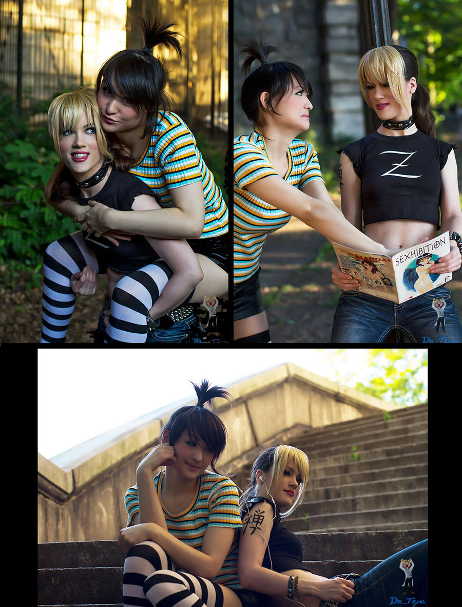 Zii and Yuki from Menage a 3 by RuffleButtCosplay