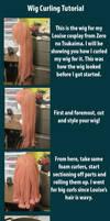 Wig curling tutorial by RuffleButtCosplay