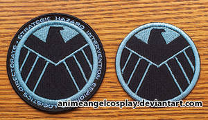 Embroidered S.H.I.E.L.D. Patch - w and wo text