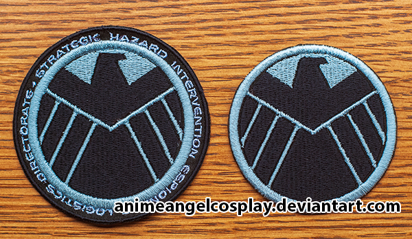 Embroidered S.H.I.E.L.D. Patch - w and wo text by RuffleButtCosplay
