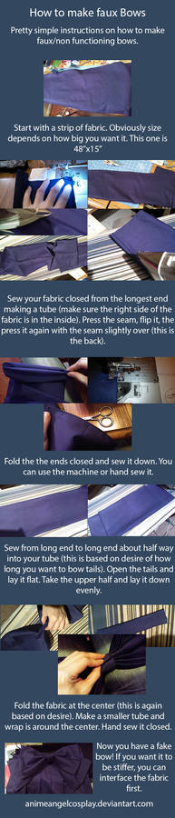 How to make Faux/Non-functioning Bows