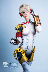 Body Paint - Aegis from Persona 3 by RuffleButtCosplay