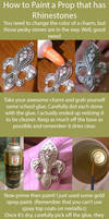How to Paint a Prop that has Rhinestones