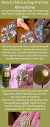 How to Paint a Prop that has Rhinestones by RuffleButtCosplay