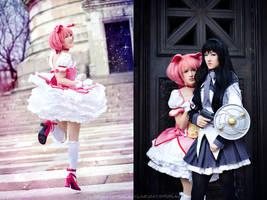 Magical Girl Madoka and Homura by RuffleButtCosplay