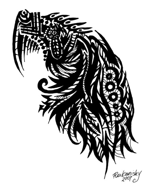 No.3 Shoulder - Webwyrms - shoulder tattoo
