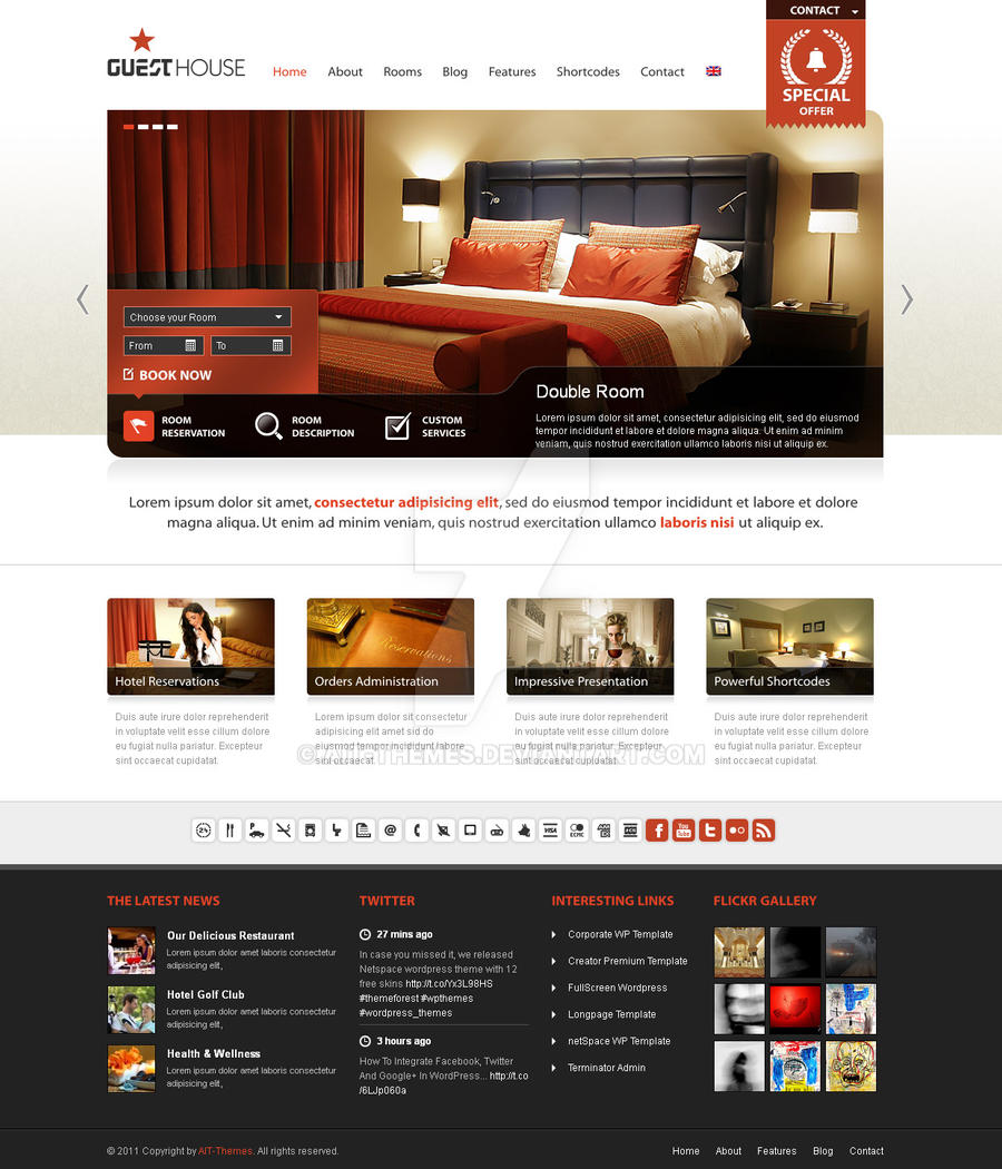 Guesthouse Premium Wordpress Theme