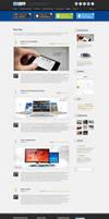 Blog Page of MyApp Wordpress Theme